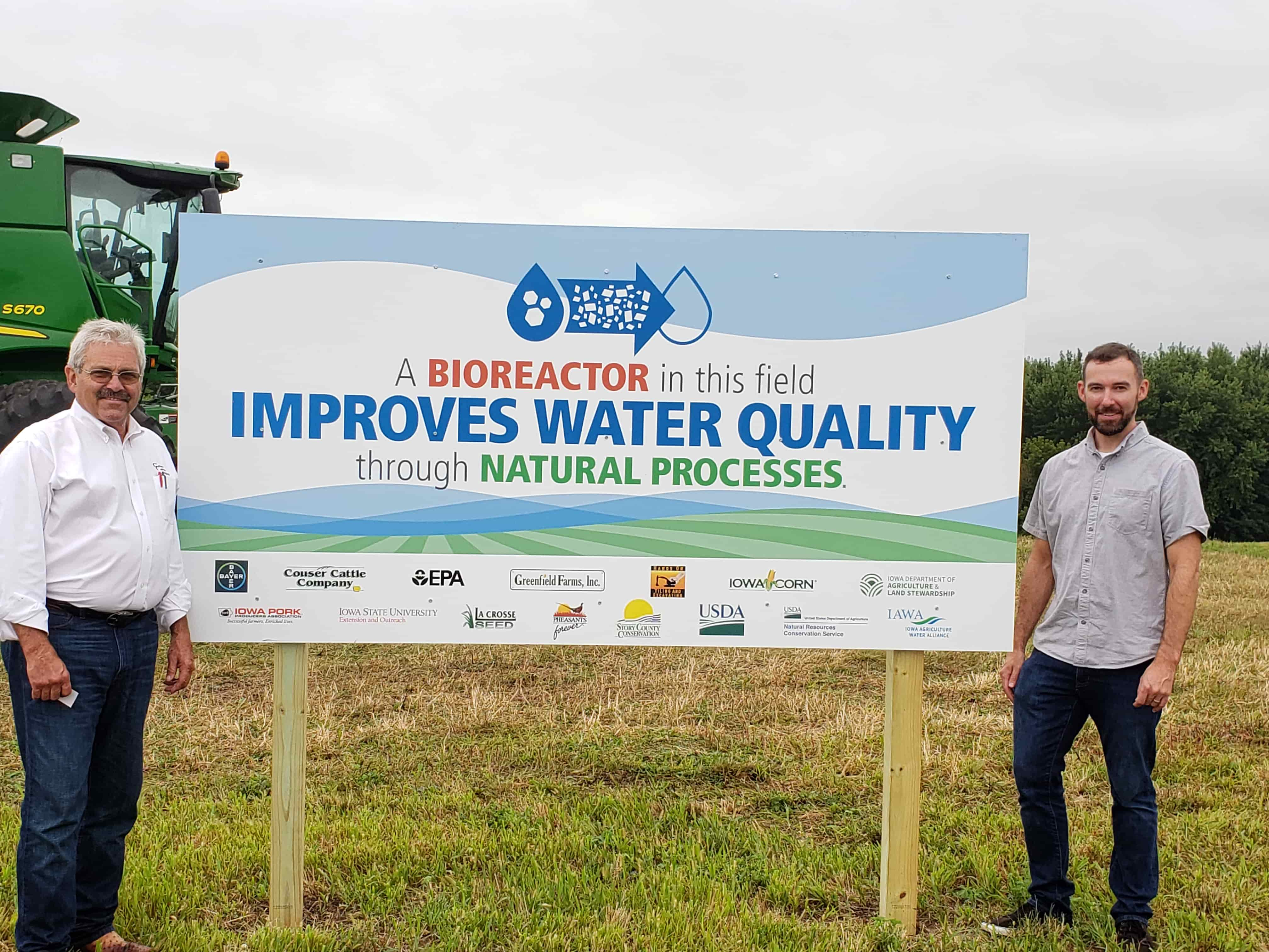 Through the help of numerous partners, Bill has installed two bioreactors on the farm to improve water quality.