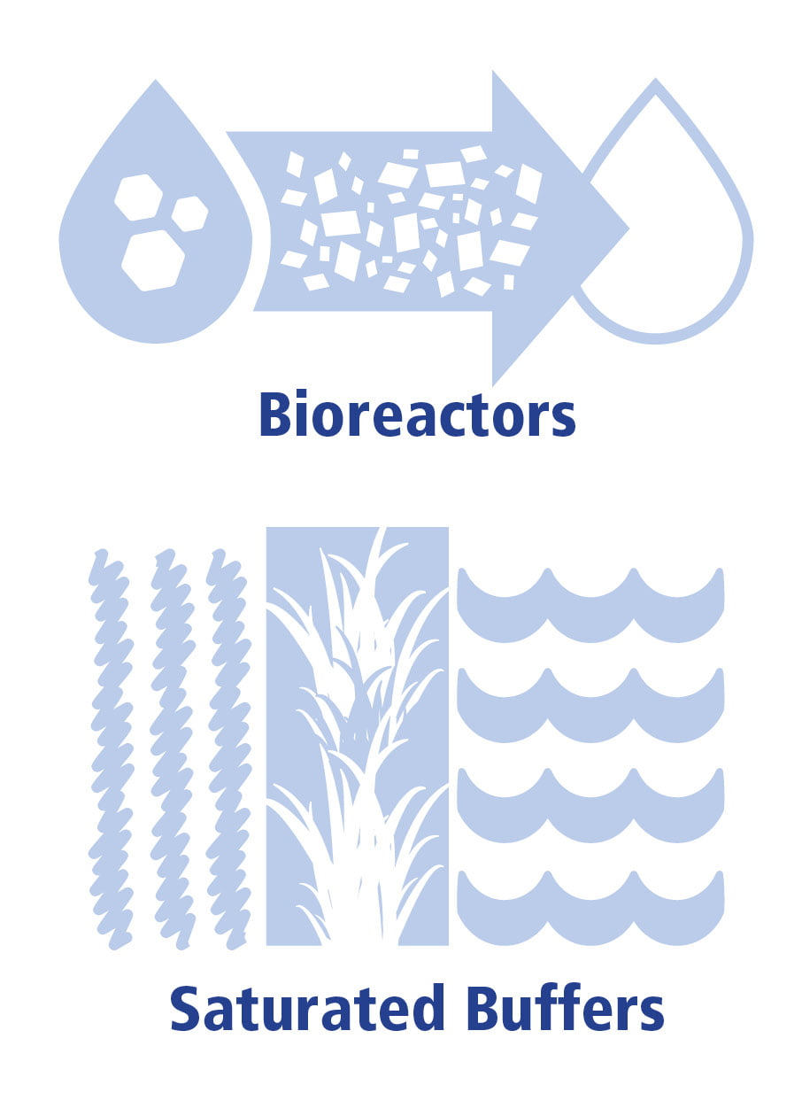 Blue bioreactor and saturated buffer icons