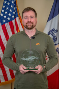 2021 Iowa Watershed Coordinator of the Year, Colton Meyer.