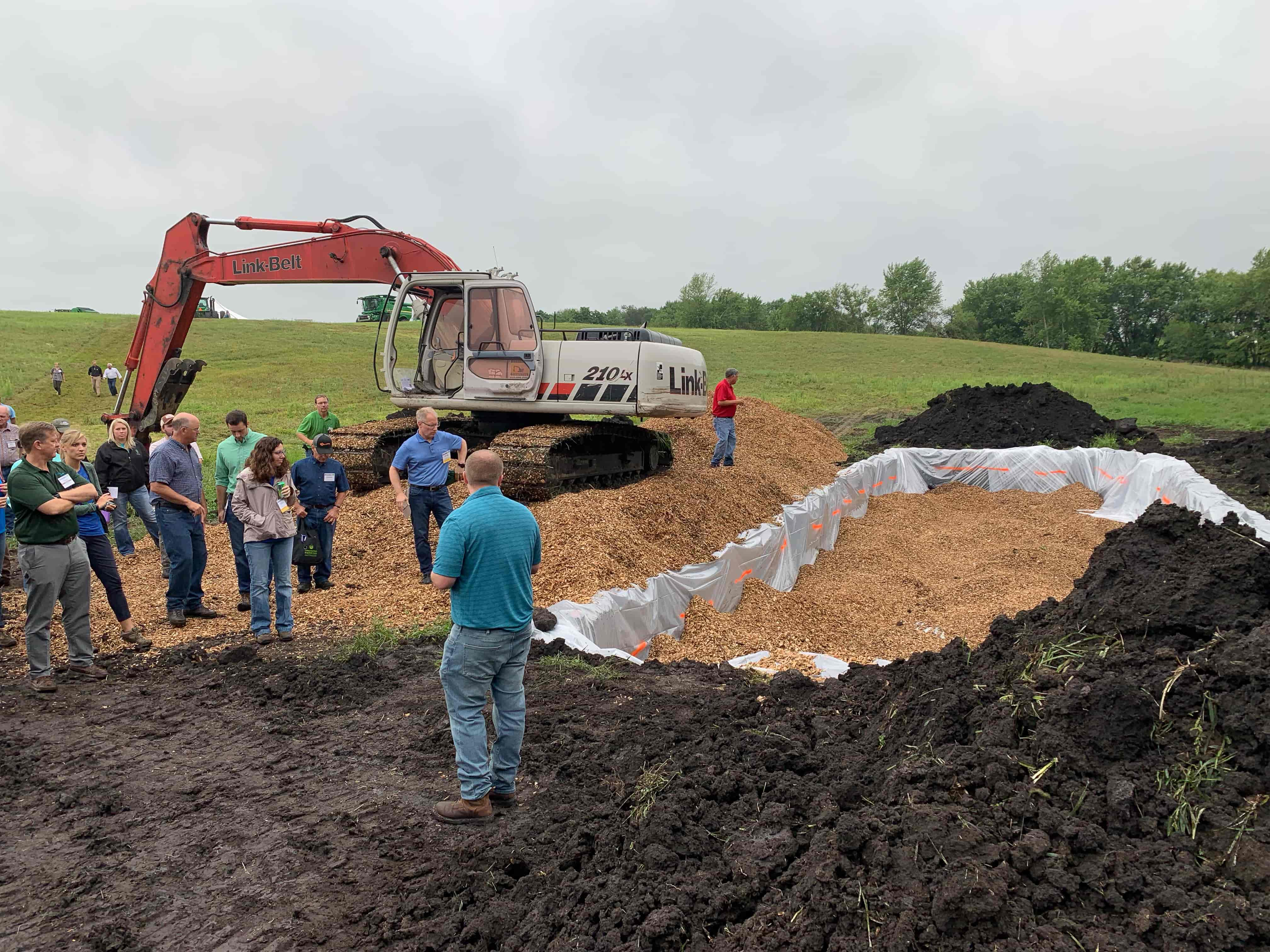Through the help of numerous partners, Bill Couser has installed two bioreactors on the farm to improve water quality.