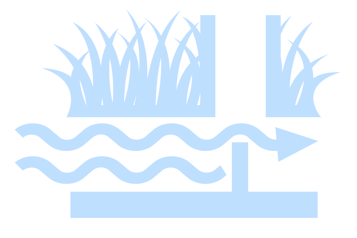 Light blue drainage water management icon