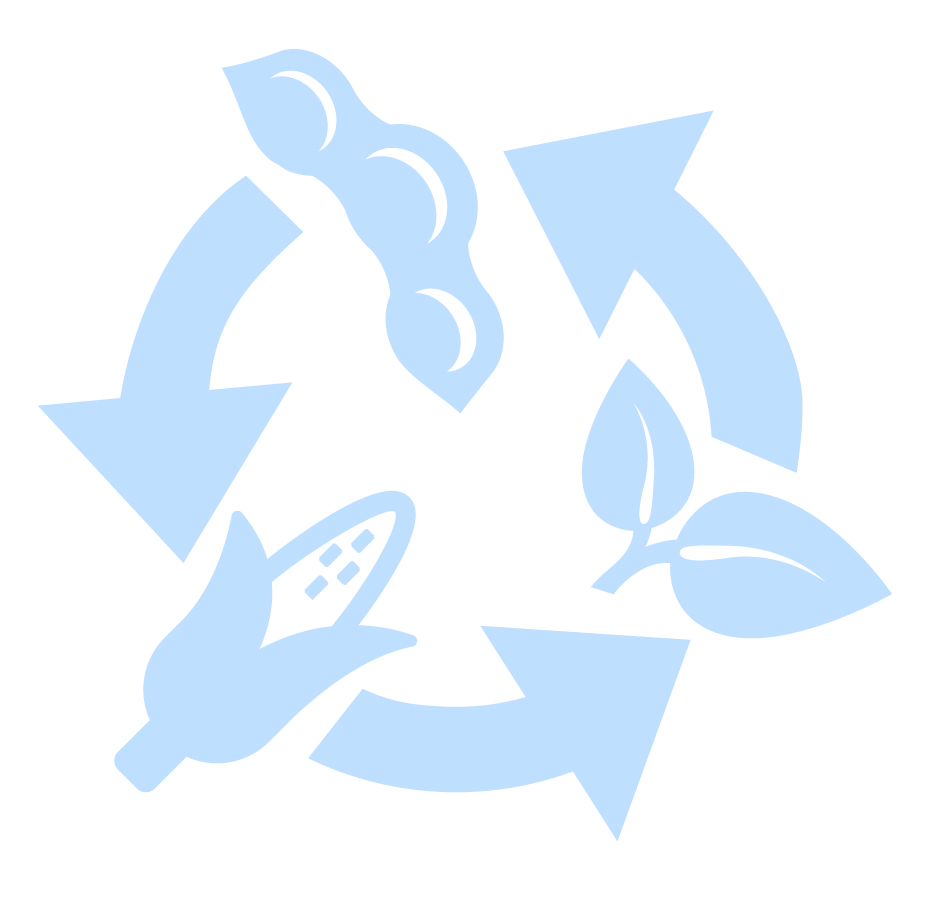 Light blue extended crop rotation icon