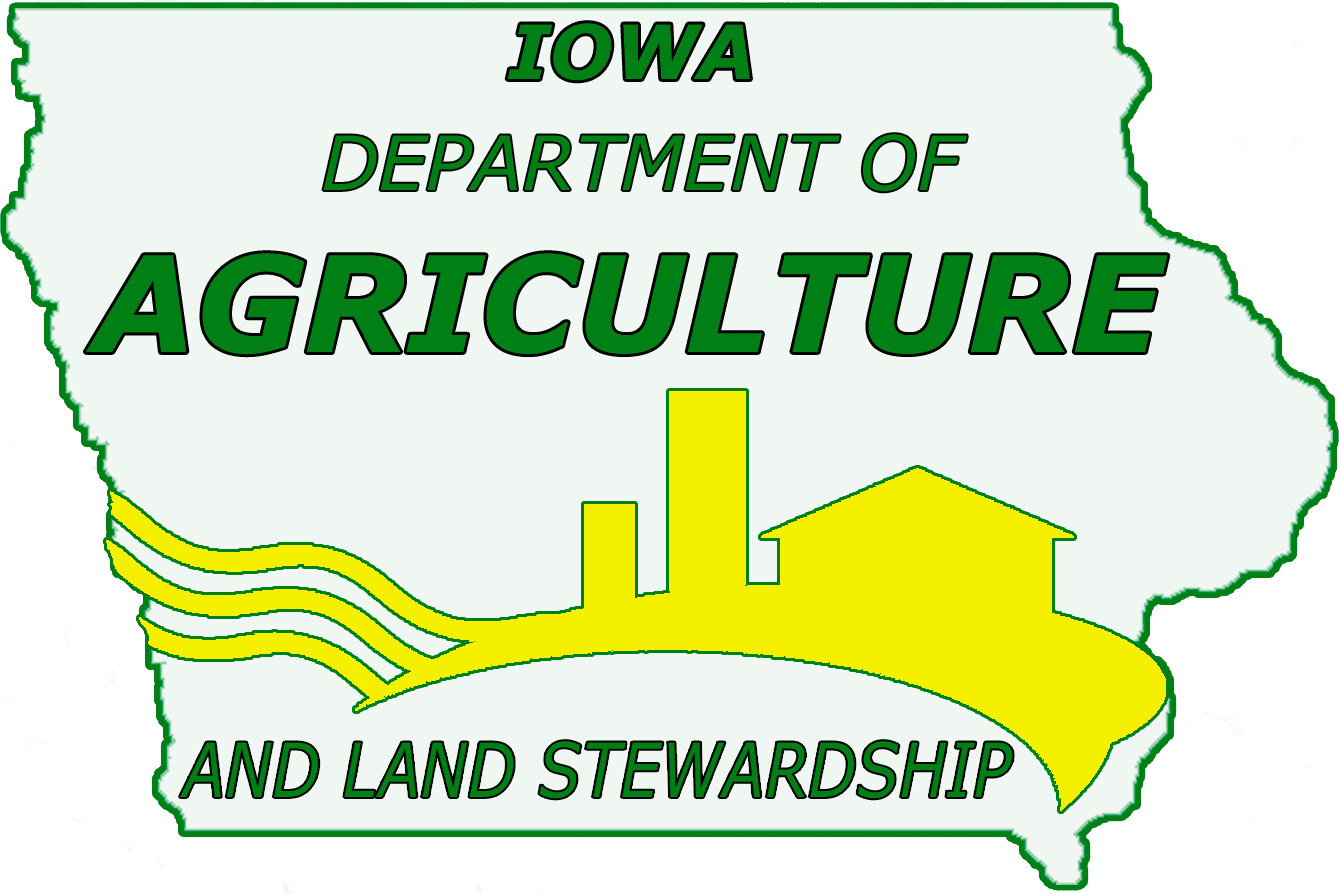 Iowa Department of Agriculture and Land Stewardship green and yellow icon