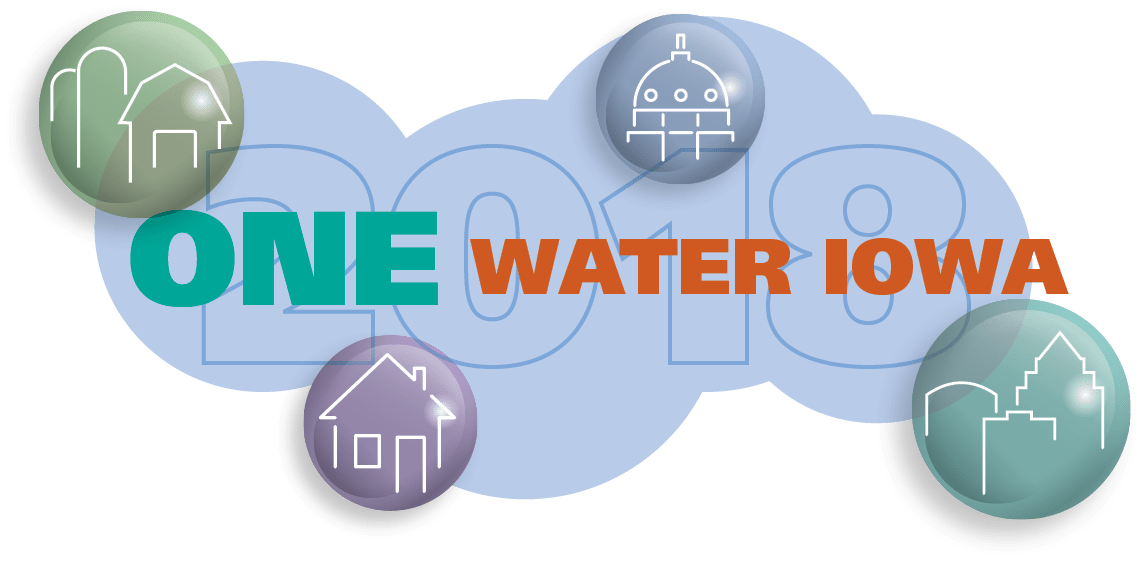 One Water Iowa header, representing the 2018 Iowa delegation to the national One Water Summit