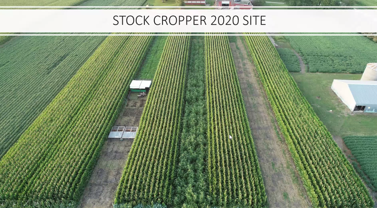 Stock Cropper aerial view Mid August.