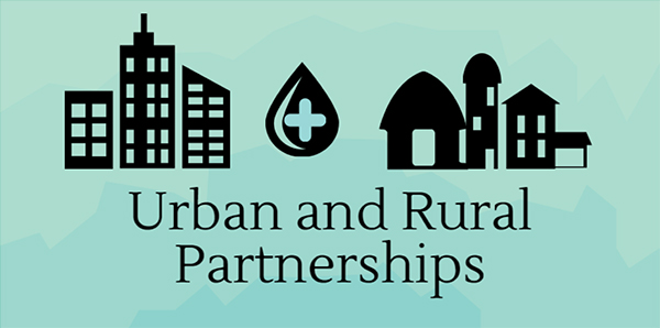 Urban and rural partnerships for water quality graphic