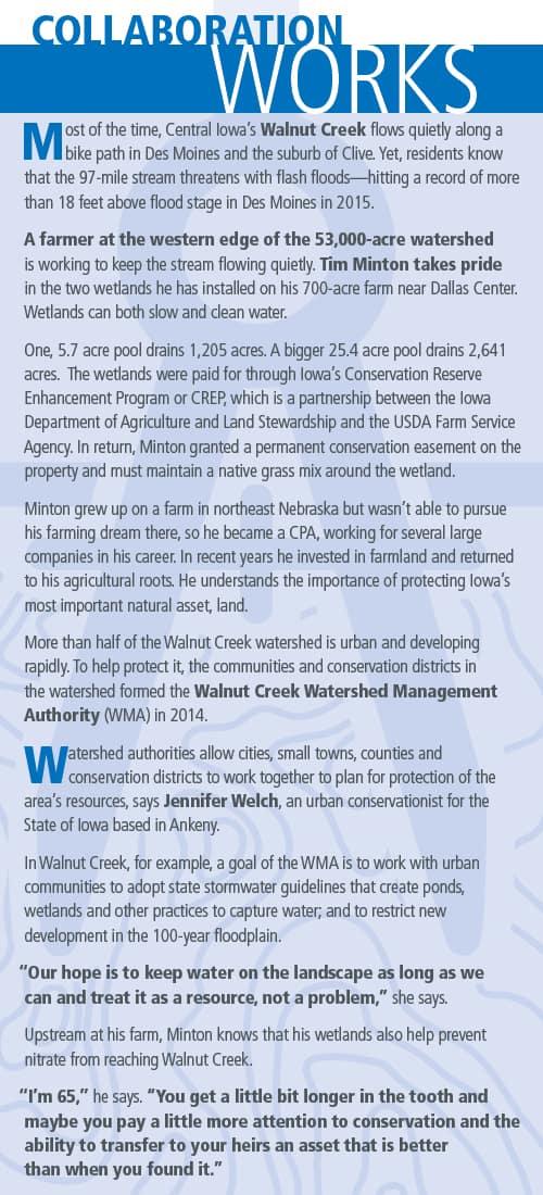 Blue Walnut Creek info-sheet discusses successful collaboration