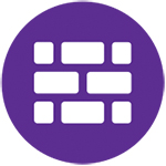"Purple icon for ""Conservation Infrastructure"""