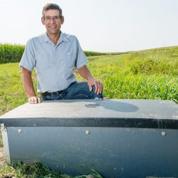 Kevin Sprung with Saturated Buffer in Rock Creek Watershed