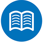 Blue Learn More Icon