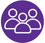 Purple Social Media Icon