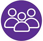 Purple Social Media Icon