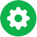 "Green gear graphic, ""IAWA at Work"""